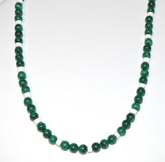 Malachite with White Shell Necklace 30% OFF