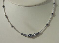 Hematite Single Strand Necklace
