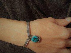 Sterling Silver - Turquoise Princess Setting - Bracelet
