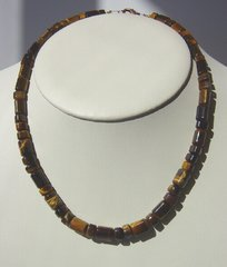 Tiger Eye Necklace - Triangle shape Stones 35% OFF