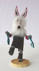 Kachina Doll - 8 Inch White Wolf - NOW 50% OFF