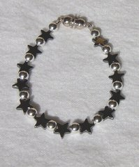 Hematine Star Bracelet with Magnet clasp
