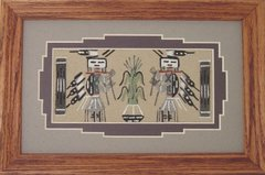 """Sand Painting - 6 Inch """"Twins"""" - NOW 75% OFF"""