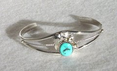 Sterling Silver Bracelet with Turquoise #2