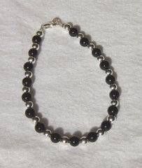 Onyx and Silver Bead Bracelet 50% OFF