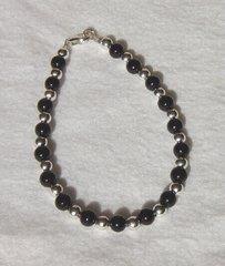 Onyx - Silver Bead - Bracelet