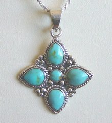 Turquoise Braided Star - NOW 50% OFF