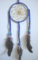Royal Blue 3 Inch Dream Catcher