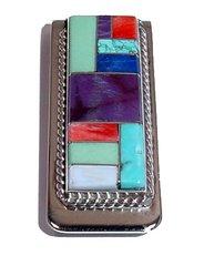 Money Clip with Semi-precious Gemstone Inlay