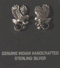 Eagle Earrings with Onyx