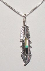Feather Jewelry with Lapis and Turquoise