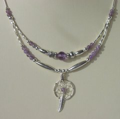 Dream Catcher Necklace with Amethyst 30% OFF