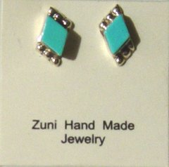 Turquoise Earrings Made in America | Diamond Cut 20% OFF