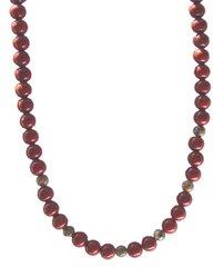 Red Jasper Necklace with Poppy Jasper 30% OFF