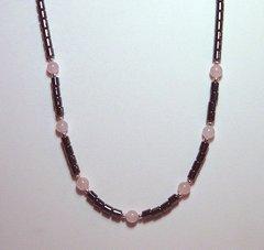 Hematite Necklace with Rose Quartz 20% OFF