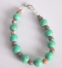 Turquoise Blue Howlite - Jasper - Bracelet