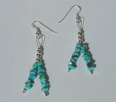 Turquoise Earrings | Turquoise 2mm Stones 33% OFF