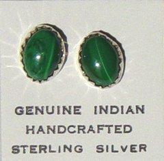Malachite Post Earrings 20% OFF
