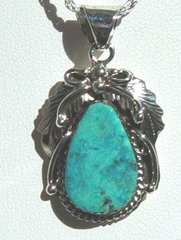 Turquoise Jewelry Leaf Design