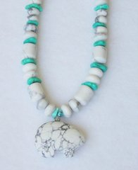 Howlite Bear Necklace 25% OFF