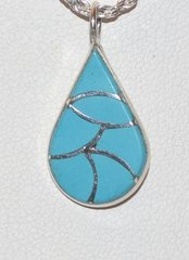 Turquoise Jewelry Teardrop Inlay design - 50% OFF