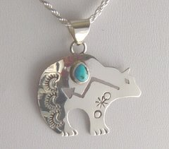 Sterling Silver Bear Jewelry with Turquoise