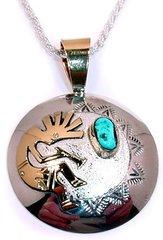 Kokopelli Jewelry with Turquoise Stone