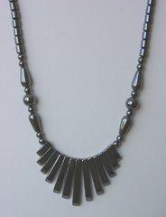 Hematite Spike Necklace