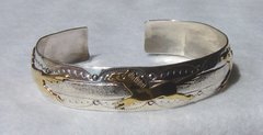 Sterling Silver Bracelet with 12K Gold Fill Horses 50% OFF