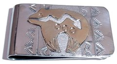 Bear Money Clip with 12K Gold Fill Design