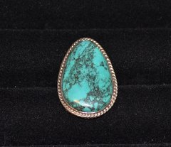 Turquoise Ring - Raindrop Shape