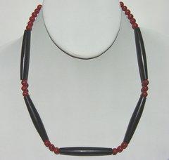 Men's Horn Bone Choker with Red Jasper
