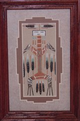 """Sand Painting - 6 Inch """"Hawk"""" - NOW 75% OFF"""