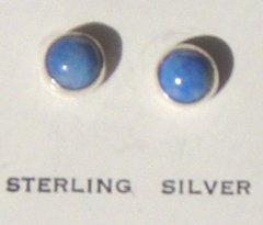 Denim Lapis Post Earrings