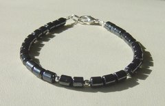 Hematite - Silver Bead - Bracelet