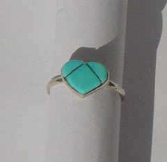Turquoise Heart design Ring - 20% OFF
