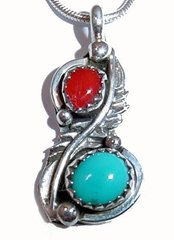Sterling Silver Coral Jewelry with Turquoise