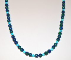 Azurite Necklace with Turquoise 25% OFF