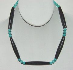 Mens Elk Horn Bone Choker with Turquoise