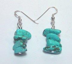 Turquoise Howlite Earrings 33% OFF