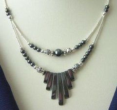 American Indian Jewelry - Hematite Spike Necklace 30% OFF