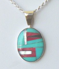 Turquoise Coral Inlay Jewelry - NOW 50% OFF