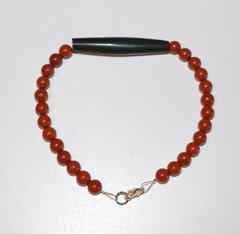 Red Jasper bead bracelet with Horn Bone