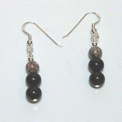 Onyx and Jasper Earrings 33% OFF