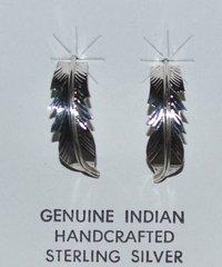 Eagle Feather Earrings in Sterling Silver
