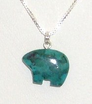 Turquoise Stone Bear on Sale