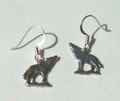 Wolf Earrings of Sterling Silver 25% OFF