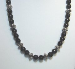 Onyx Necklace with 10mm Beads 40% OFF