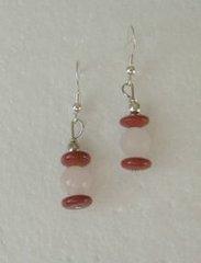 Red Jasper with Rose Quartz Earrings 33% OFF
