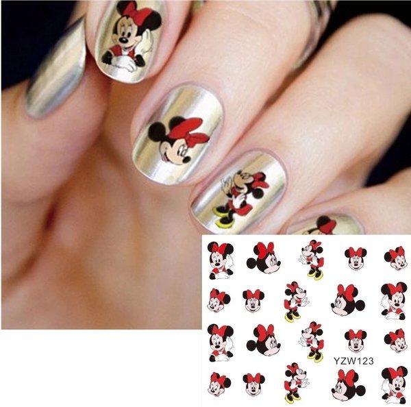 Waterslide Decal (YZW123) Minnie Mouse   The Glitter Palace nail art ...